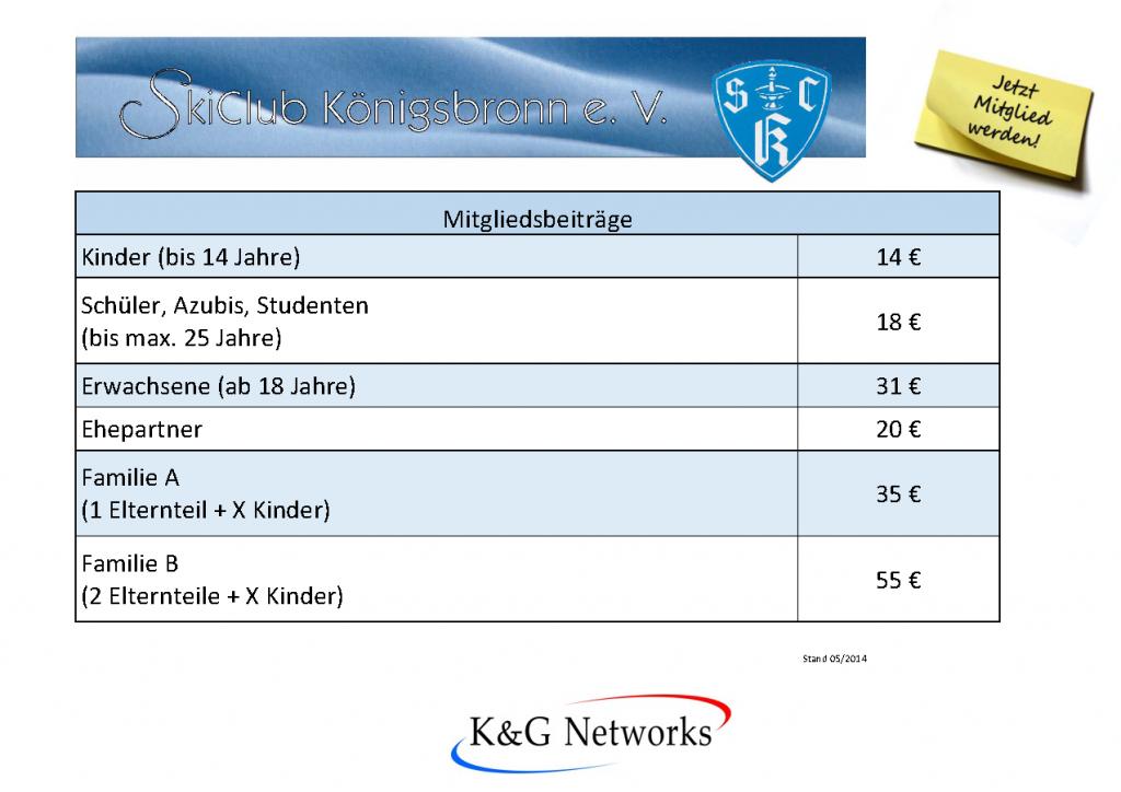 Mitgliedsbeiträge – Skiclub Königsbronn e.V.