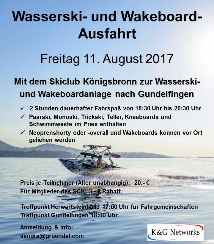 Wasserski- und Wakeboard Ausfahrt – Skiclub Königsbronn e.V.