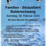Familien Skiausfahrt Balderschwang Samstag 08. Februar 2020